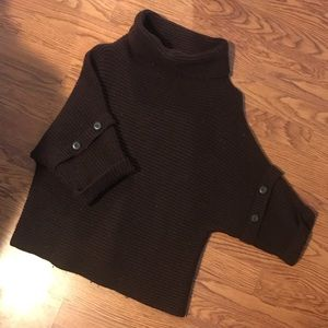 Sweaters - Turtle neck poncho sweater